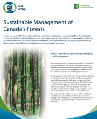 CSA Forest Certification - | Canadian Sustainable Forest Management